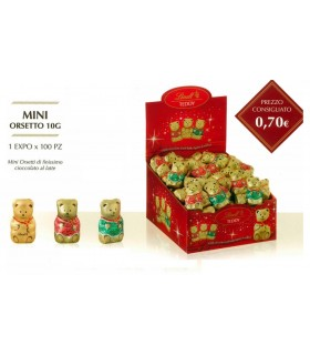 LINDT MINI TEDDY AL LATTE 10g EXPO DA 100 PZ.