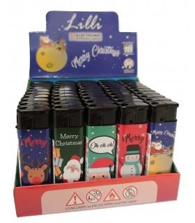 Accendini Lilli Elettronici Christmas conf. 50 pz. assortiti con 5 grafiche