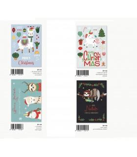 Biglietto Marpimar Buon Natale Design con Foil Rosso  conf. 12 pz. assortiti