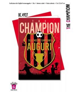 Biglietto Cromo Compleanno The Champion conf. 6 pz.