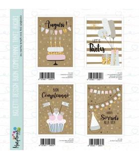 Biglietto Marpimar compleanno Design Kraft conf. 12 pz. assortiti
