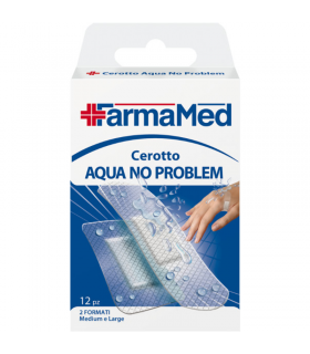 Cerotti Resistente all'acqua Farmamed due Formati Large e Medium 12 pz.