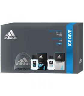 Adidas Uomo Ice Dice Cofanetto con Eau de Toilette Dopobarba e  Berretto