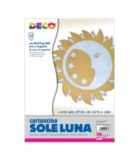 Cartoncino Satinato Oro e Argento 50x70 cm conf 10 pz.