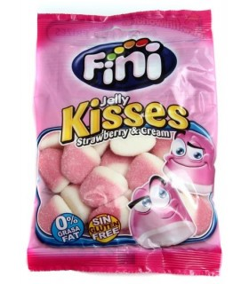 FINI JELLY KISSES FRAGOLA BUSTINA DA 100 GR.
