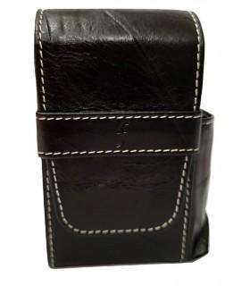 Copripacchetto di Sigarette Flaminaire  con Porta Accendino in similpelle colore Nero
