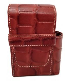 Copripacchetto di Sigarette Flaminaire con Porta Accendino in similpelle colore Red