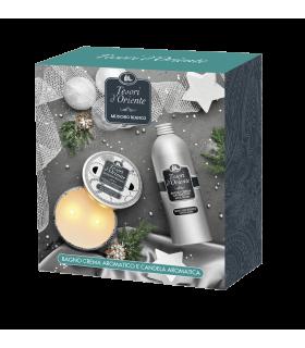 Tesori D'Oriente Muschio Bianco Bagno Crema con Candela Aromatica