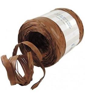 Rafia 100 metri h. 1/2 cm.  colore marrone