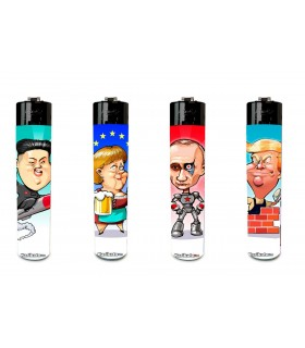 "Accendino Atomic Festival Tipo Clipper"" Mod. Politician conf. 48 pz. assortito con 4 grafiche"