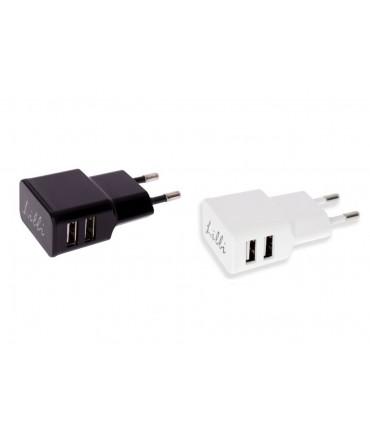 Caricatore da Muro con due prese USB Disponibile Bianco e Nero