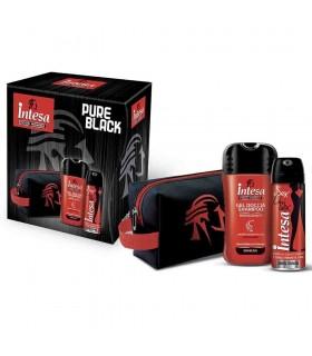 Intesa Pour Homme Pure Black con Gel Doccia Profumo e Beauty Case