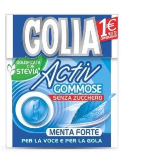 GOLIA ACTIVE GOMMOSE MENTA FORTE SENZA ZUCCHERO ASTUCCIO CONF. 20 PZ.
