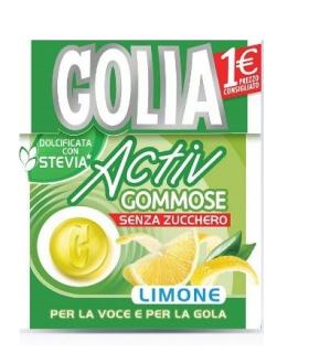 GOLIA ACTIV GOMMOSE LIMONE SENZA ZUCCHERO ASTUCCIO CONF. 20 PZ.