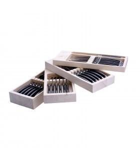 Set 24  Posate Laguiole confezionate in elegante scatola di Legno