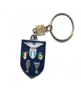 Portachiavi SS Lazio in Metallo scudo con Trofei