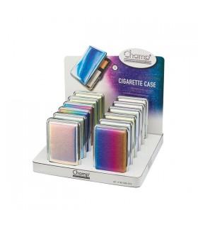 Portasigarette Champ in Metallo Effetto specchio conf. 12 pz. colori assortiti
