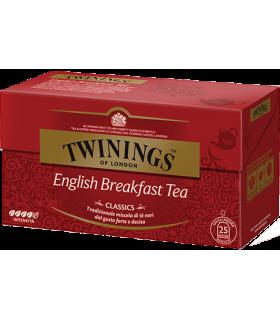 Tè Twinings English Breakfast Classic conf. da 25 bustine