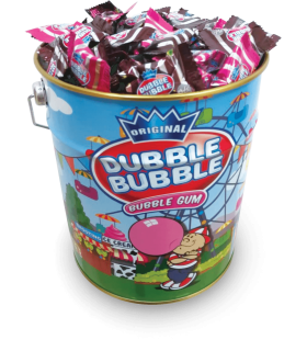 BUBBLE GUM ORIGINAL ALLA FRAGOLA IN BARATTOLO DI LATTA DA 250 PZ.