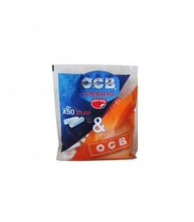 Filtri OCB Slim 6mm Combibag con Cartina Ocb Orange conf. 20 libretti da 50 cartine e 50 filtri