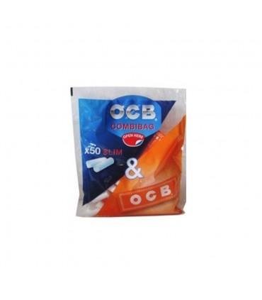 Filtri OCB Slim 6mm Combibag con Cartina Ocb Orange conf. 20 libretti da 50 cartine e 50 filtri