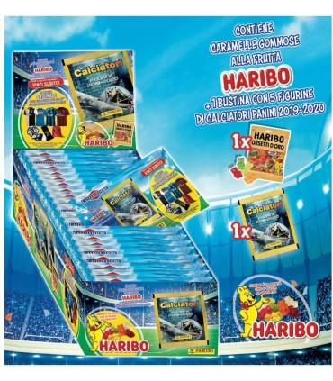 VINCICALCIO 2020 FIGURINE PANINI + BUSTINA ORSETTI HARIBO  12G CONF. 36 PZ.