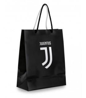 Shopper FC Juventus con manico in corda Misura 18x23 conf. 6 pz.