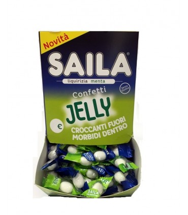 SAILA CONFETI JELLY LIQUIRIZIA MENTA  MONOPEZZO DISPLAY 200 PZ.
