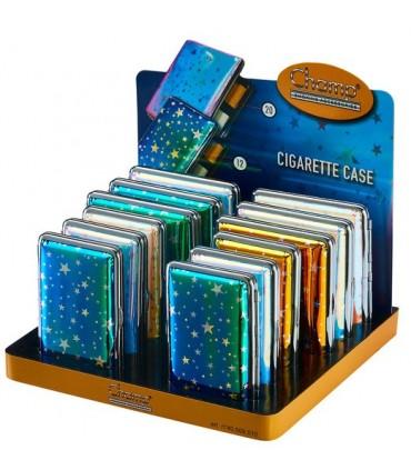 Portasigarette Champ Shiny Stars in Metallo Expo da 12 pz. colori assortiti