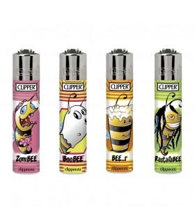 Accendino Clipper Micro Bees conf. 48 pz. assortito con 4 grafiche
