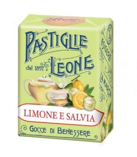 PASTIGLIE LEONE LIMONE E SALVIA SCATOLETTA DA 30g CONF. 18 PZ.