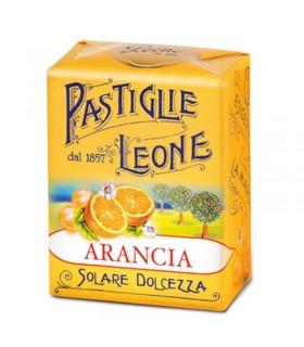 PASTIGLIE LEONE GUSTO ARANCIO IN SCATOLETTA DA 30G CONF. 18 PZ.