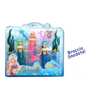 Set Tre Sirene con Braccia Snodate