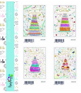 Biglietto Marpimar Compleanno con rilievo conf. 12 pz. assortiti