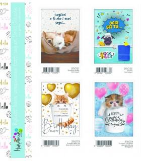 Biglietto Marpimar Compleanno Dolci Chicche conf. 12 pz. assortito con 4 soggetti