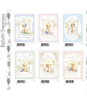 Biglietto Marpimar Comunione Design con foil conf. 12 pz. assortiti con 4 soggetti