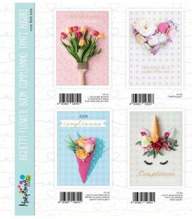 Biglietto Marpimar Compleanno Flower conf. 12 pz. assortiti