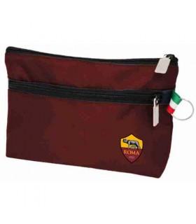 Pochette Portatutto con Doppia Zip AS Roma