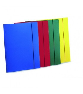 Cartelline a 3 lembi con elastico conf. 10 pz. colori assortiti