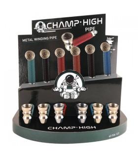 Pipette Champ in Metallo H. 9 cm Expo da 12 pz. colori assortiti