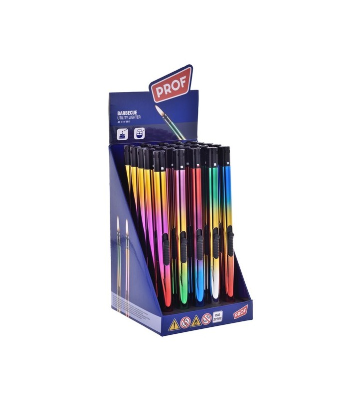 Accendigas Prof Fino Rainbow  Lungo 21 cm Expo da 25 pz.