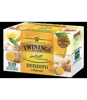 Infuso Aromatizzato Twinings Zenzero e Limone conf. da 20 bustine