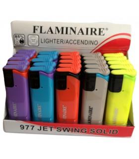 Accendino Elettronico Turbo Flaminaire Swing conf. 50 pz. assortito con 5 colori