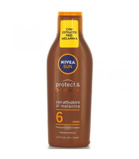 Latte Solare Nivea Sun con Attivatore di Melanina FP + 6 da 200ml