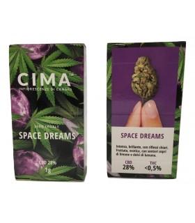 Infiorescenza di Cannabis Light CIMA Space Dream scatolina da 1 gr
