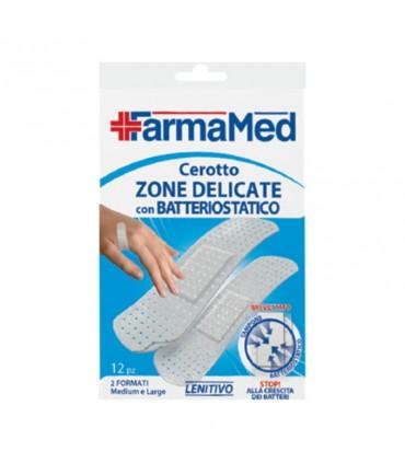 Cerotto Farmamed Zone Delicate con protezione batteriostatica 12 pz. ( 2 formati medium e large)
