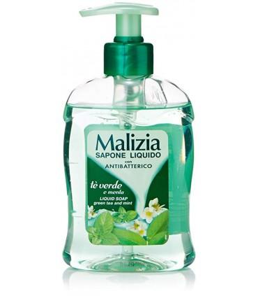 Malizia Sapone Liquido Mani Te' Verde e Menta Antibatterico 300 ml