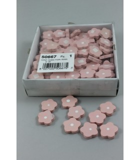 Fiori Rosa in Legno con biadesivo   conf. da 200 pz.