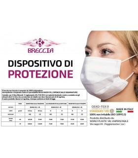 Mascherina in Tessuto Traspirante e Idrorepellente 100% Polipropilene conf. 10 pz.