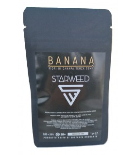 Infiorescenza di Cannabis Light STARWEED BANANA bustina da 1gr